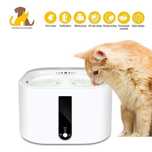 Nwayd Bebederos Mascotas,Bebedero Gatos, Fuente para Gatos ...