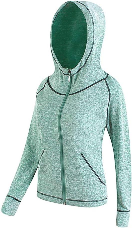 Breathable La Dearchuu Running Jacket Womens Long Sleeve Ladies Yoga Hoodie Jacket with Hood Full Zip Pocket Fitness Hoodie Running Top Women Long Quick Drying