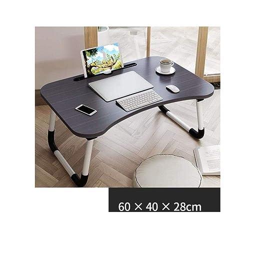 Jingyinyi Pequeño Escritorio, Cama Perezosa, Mesa para Laptop ...