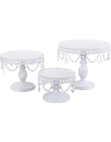 f4986bab69c0 VILAVITA Cake Stand Round Cupcake Stands Metal Dessert Display for Wedding,  Birthday or Party Celebration