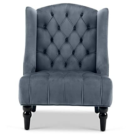 Amazon.com: Hebel New Modern Wingback Accent Chair Diamond ...