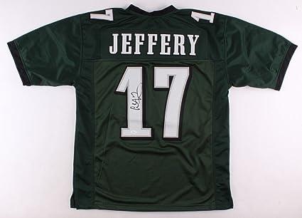 wholesale dealer 6dc57 61bf8 Alshon Jeffery Autographed Signed Eagles Green Pro-Style ...