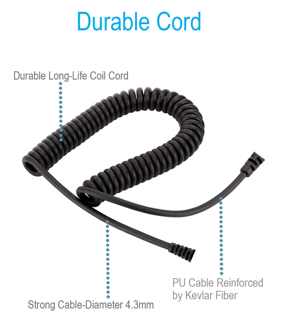 Compact Speaker Mic with Reinforced Cable for Kenwood Radios NX-220 NX-320 TK-2160 TK-2170 TK-2212 TK-2302 TK-2312 TK-2360 TK-2402 TK-3160 TK-3170 TK-3230 TK-3312 TK-3360 TK-3402 Shoulder Microphone