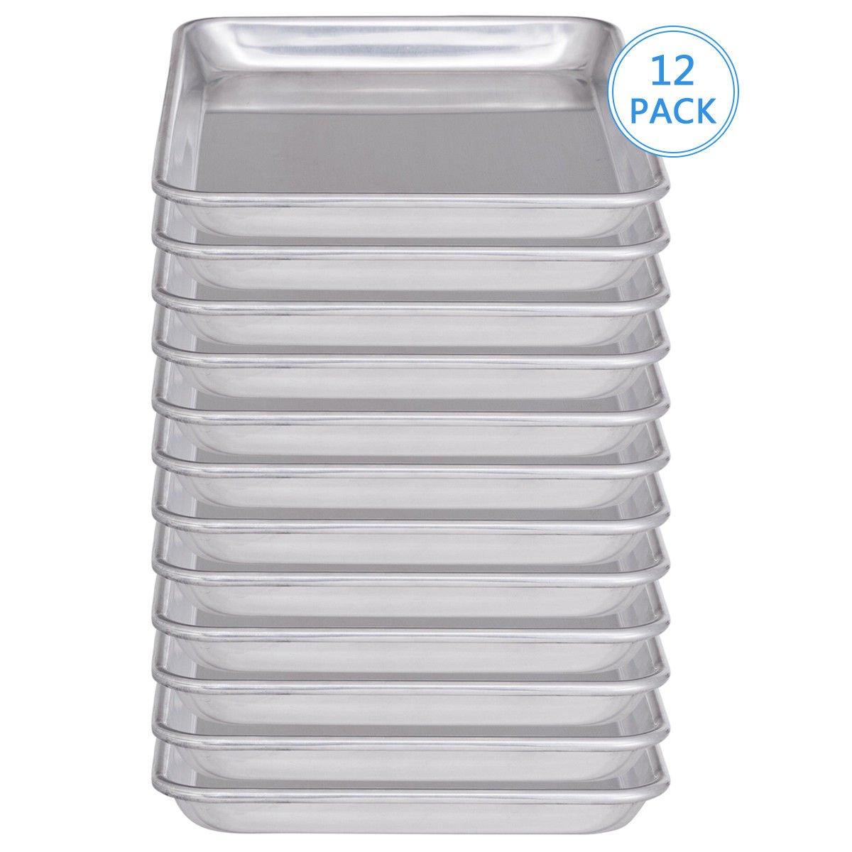 chefjoy 12 Piece Aluminum半分シートパンCommercial BakingトレイノンスティックBakeware B078NXPC66