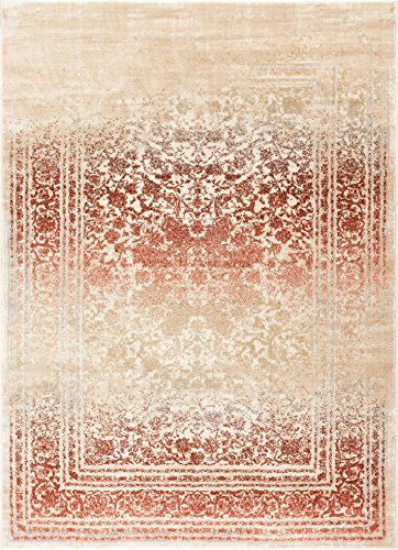 Well Woven Celine Copper Rust Persian Vintage Medallion Area Rug 8x11 (7'10