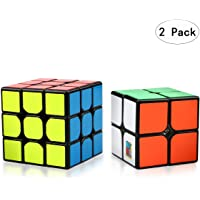 Aiduy Speed Cube Set, Magic Cube Set of 2x2x2 3x3x3 Smooth Twist Cube 3D Puzzle Game