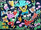 Chinese Art / Original Chinese Painting: Chinese Peasant Painting - Chasing Butterflies
