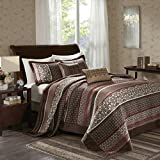 Oversized Quilts for King Size Beds Madison Park Princeton Bedspread Set, Oversize King, Red