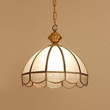 Noilyn- Lámparas colgantes de estilo europeo Lámparas de cobre completas Estudio Dormitorio Soldadura de restaurante Lámpara ...