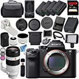 Sony ILCE7RM2/B Alpha a7R II Mirrorless Digital Camera (Body Only) + Sony FE 100-400mm f/4.5-5.6 GM OSS Lens SEL100400GM + 256GB SDXC Card + NP-FW50 Lithium Ion Battery + External Rapid Charger Bundle