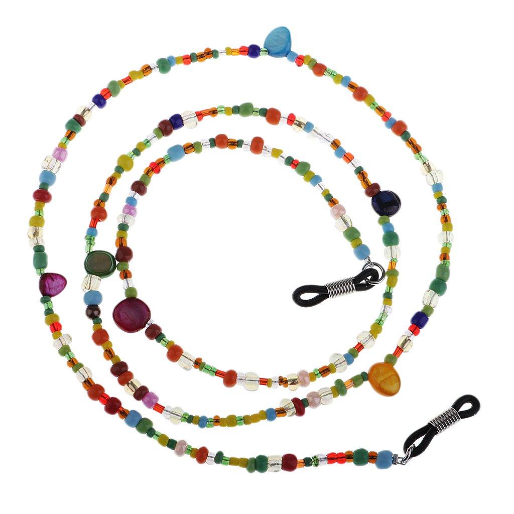 Unbekannt Brillenkette Einstellbare Gummi-Enden mit Bunte Perlen - Brillenhalter 0577000660410ITA
