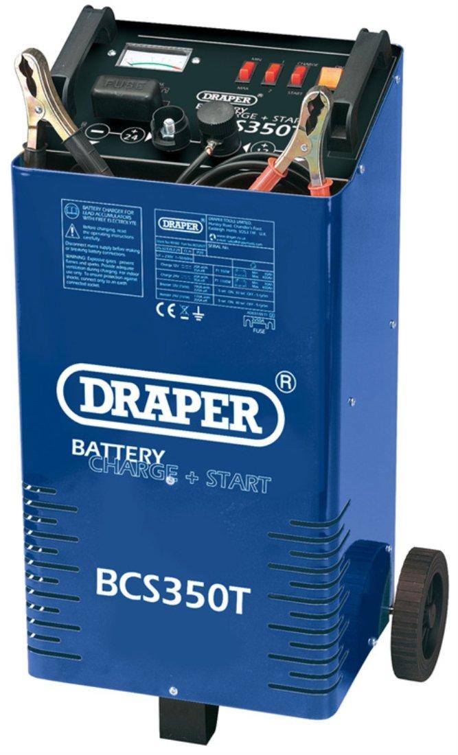 Draper 40180 Energiestation mit Rollen, Starthilfe- / Ladegerät, 12 V / 24 V, 300A