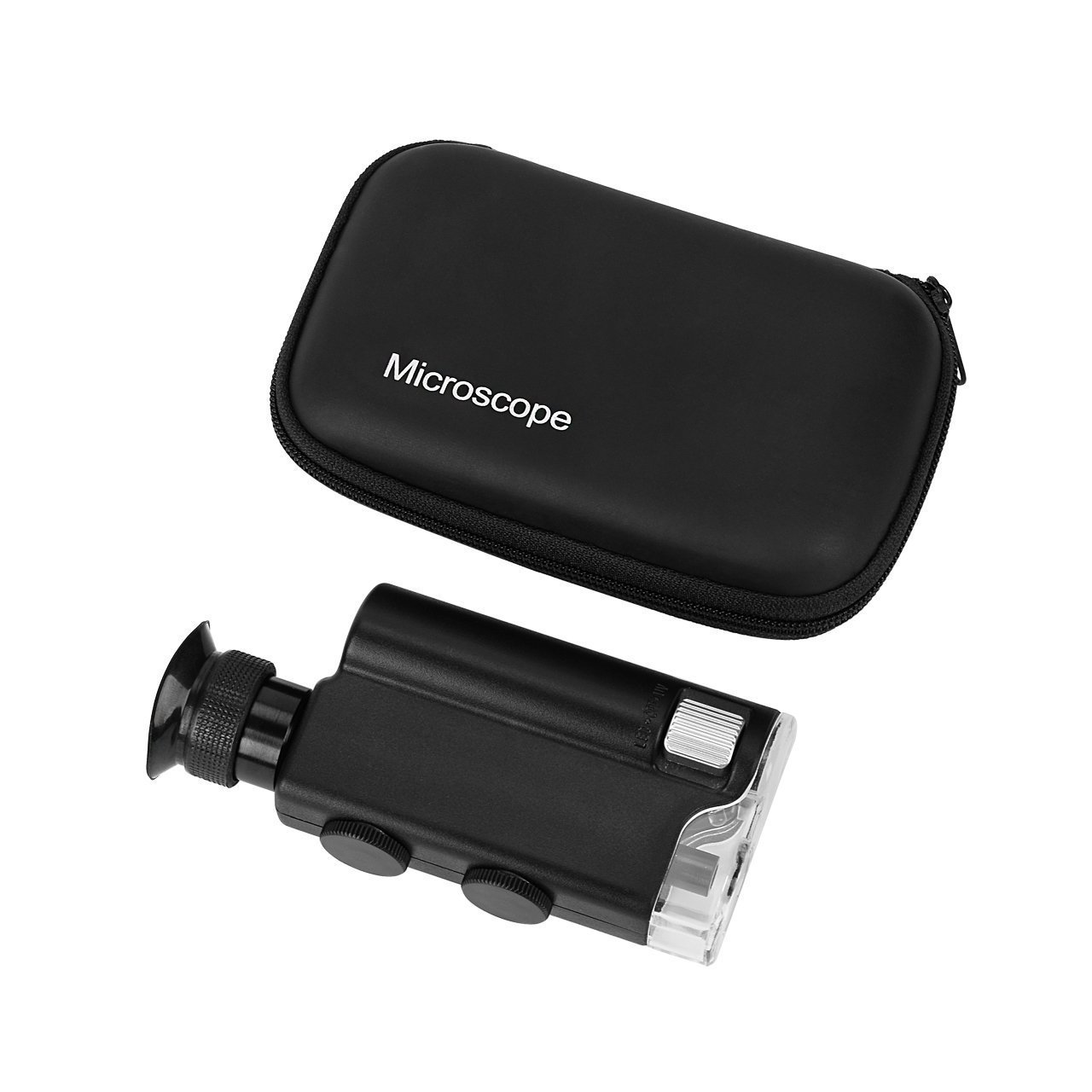 Pocket Microscope, Homebunnyy 200x-240x LED UV Light Professional Microscope for Hobbies Collection 3-homelife266189uk