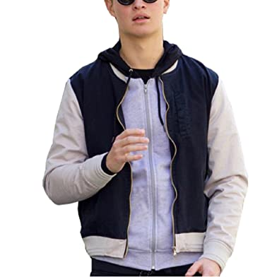2a154c1f702e Baby Driver Ansel Elgort Varsity Jacket for Men Black at Amazon ...