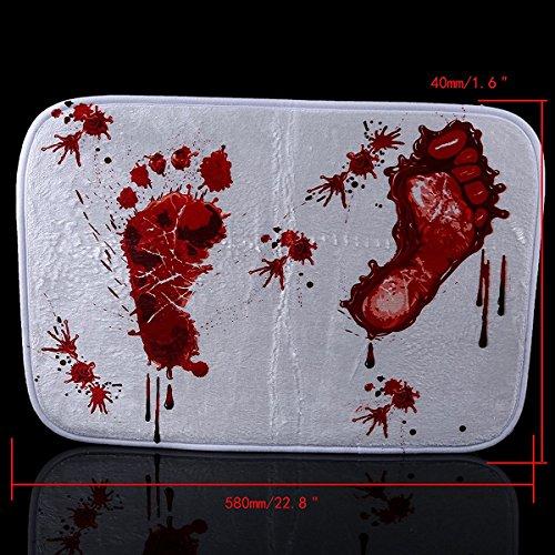 Bloody Shower Mat Petforu Bloody Footprint Polyester Door