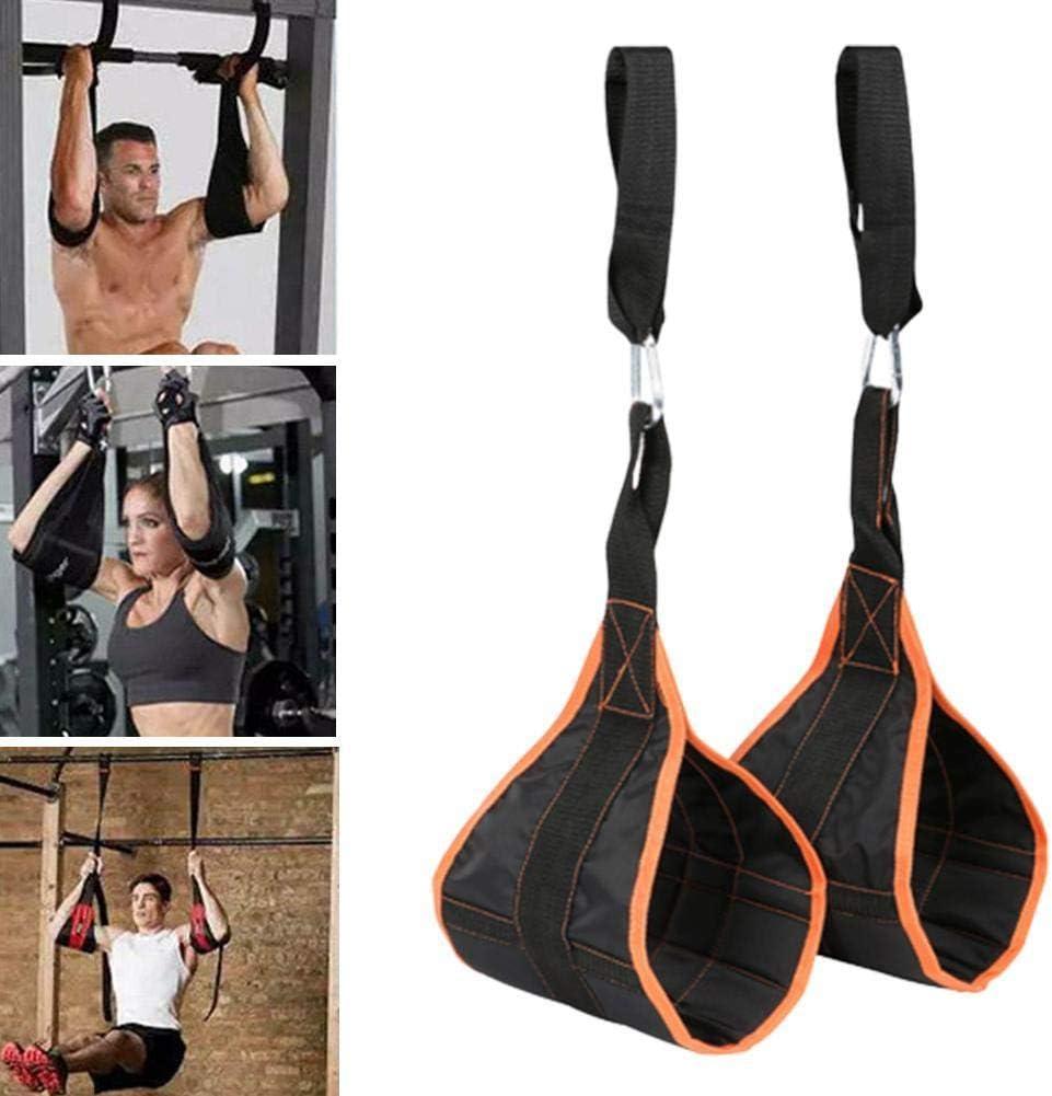 resistentes a los desgarros para entrenamiento muscular 2 correas de abdominales para fitness con cinturones de fuerza y conectores r/ápidos equipo de entrenamiento barra de dominadas Jiutinggood