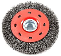 Forney 72788 Wire Wheel Brush, Coarse Crimped with 5/8-Inch-11 Threaded Arbor, 4-inch-by-0.014-Inch, 3 Pack