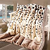 Raschel Coral Velvet Blanket Quilt Sheets Napping Throw Snuggle Reduce Anxiety Help Autism Bed Couch Cozy Warm Smooth Heavy Wedding Birthday Christmas Thanksgiving Gift,Full180×220cm 3kg