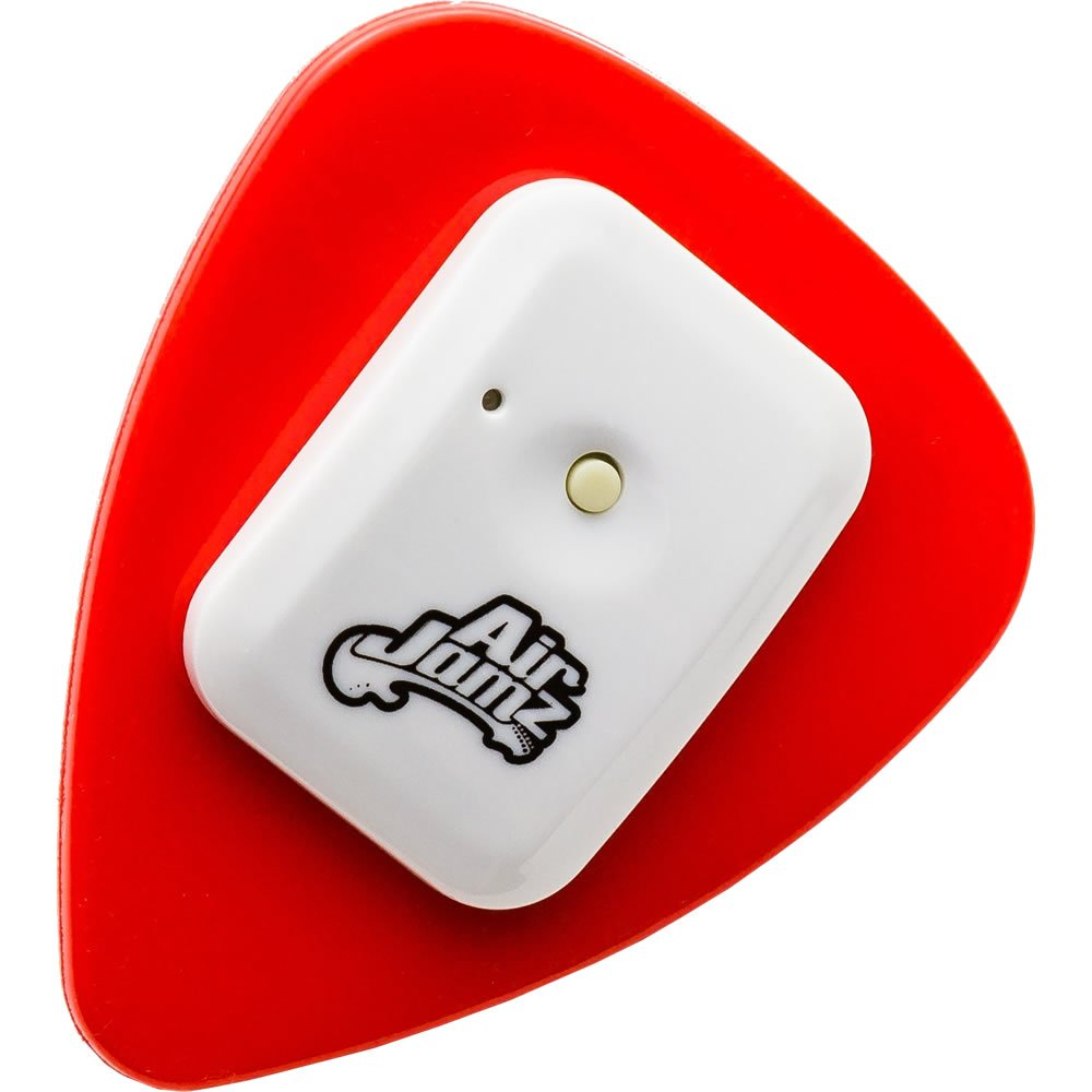 AirJamz App-Enabled Bluetooth Music Toy, Electric Air Guitar and more for your iOS Mobile Phone or Tablet, Red, Powered by Zivix by Zivix (Image #1)
