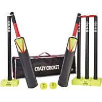 Ram Crazy Cricket Set - Junior, 1 x Size 3 and 1 x Size 5 Bat, Kwik, Quick, Beach, Park - Suitable for approx ages 8-13 years