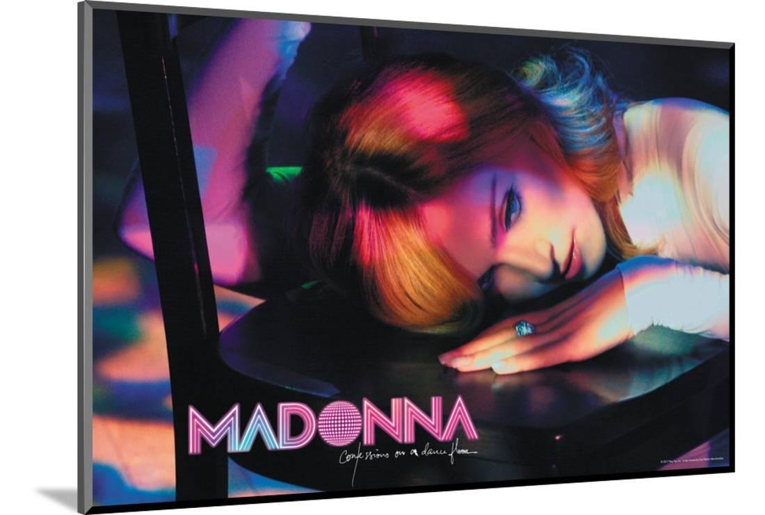 Madonna - Conversations on a Dance Floor Mounted Poster 18 x 12 in