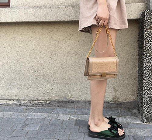 cadena cuadrada nueva moda verano Bolso ocio pequeña de Bolso bolsa Única dHqIda