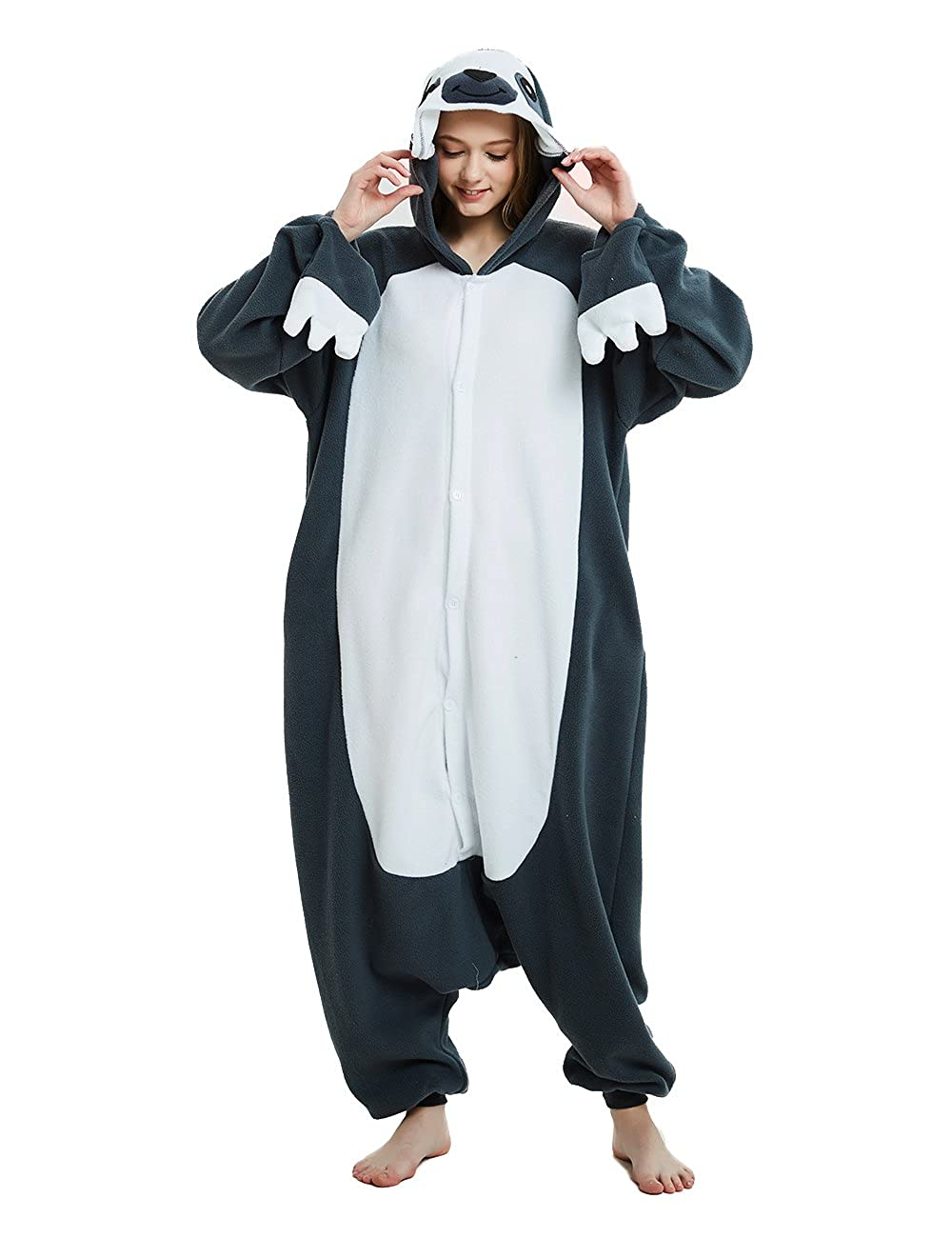 Ifboxs Cow Animal Onesie Pajamas Halloween Cosplay Costume for Women and Girls
