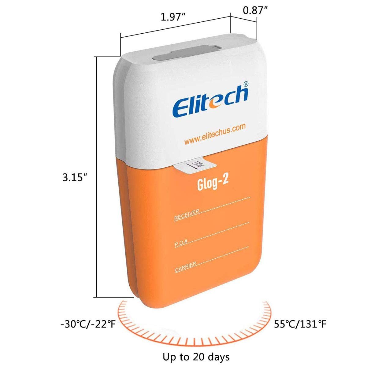 Elitech Glog 2 Singe-Use IoT Temperature Data Logger for Position and Illuminance