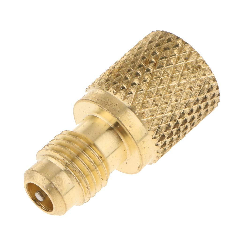 FLAMEER Messing R134A Adapter F/ür K/ühl-mittelbeh/älter Adapter Konverter 1//2 Acme 1//4 SAE