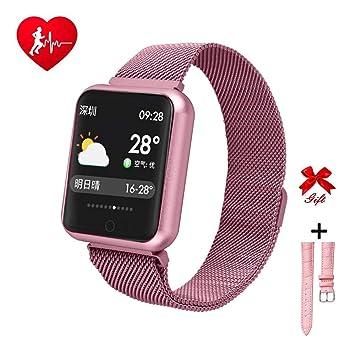 RanGuo Smart Watch pour Homme Femme Enfants, Sports de Plein air Montre Connectée IP68 Etanche pour Smartphones système Android et iOS, Soutien Appel ...
