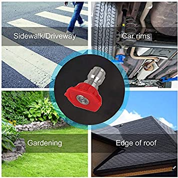 SODIAL Gutter Cleaning Tool Pressure Washer Extension Wands Power Washer Roof Cleaner Lance Nozzle Window Washing Accessories 4000 Psi 5 Tips