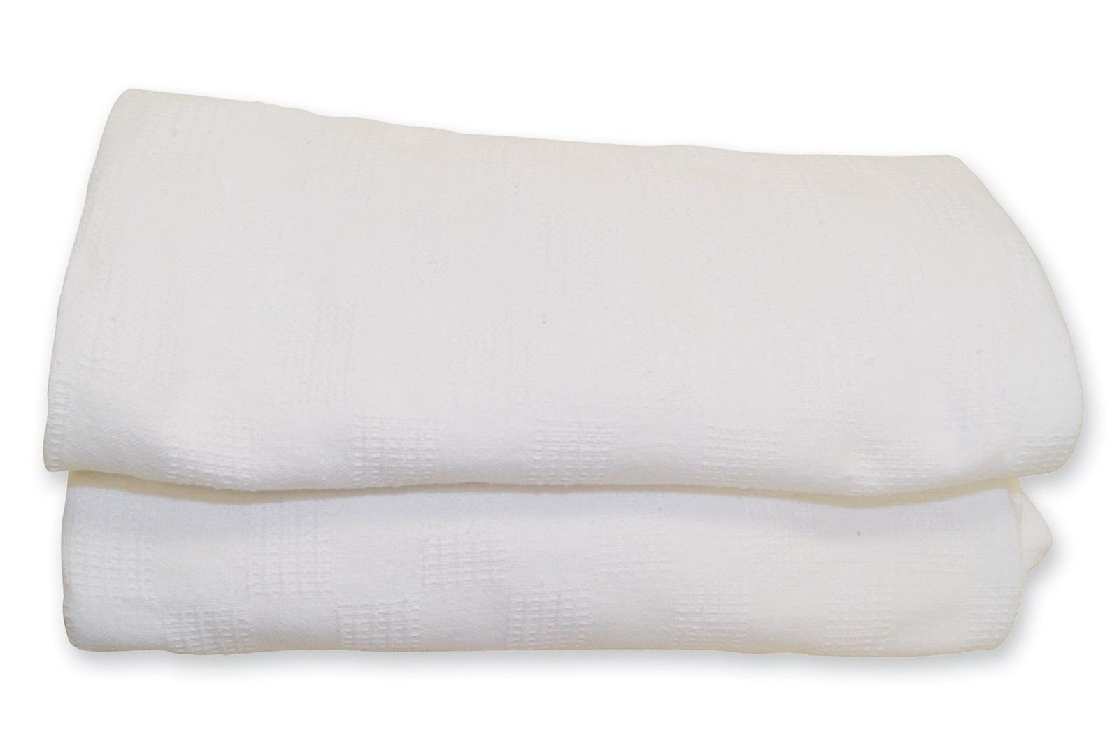 GHP 12Pcs 66''x90'' 100% Cotton White Thermal Blankets by Globe House Products (Image #2)