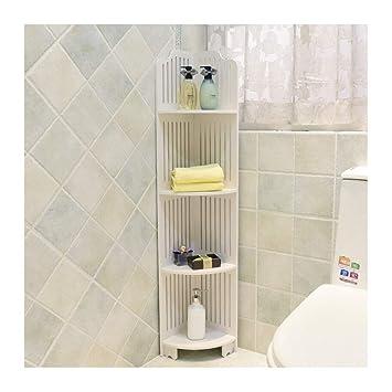 Srl 4 Tier Dusche Regal Badezimmer Eckregal Corner Holz