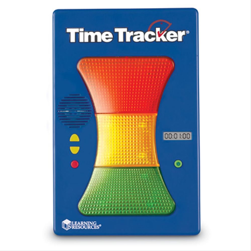 Learning Resources Magnetic Visual Time Tracker & Clock, Classroom Accessories, Teacher Aids, 3-Color Lighted Display, Visual & Audio Alarms by Learning Resources