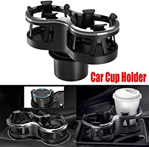 Wonninek Car Cup Holder with Detachable, Universal Water Bottle Car Cup Holder Flexible Cup Holder, Stick on The Instrument Panel Car Console Drinking Bracket
