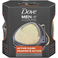 Dove Men+Care Dual Sided Shower Tool for perfect lather Active Clean dermatologist recommended 1 count