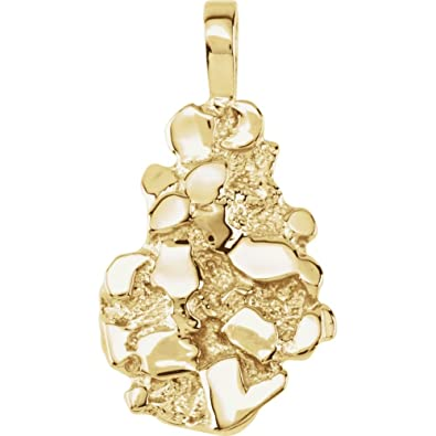 14ct yellow gold nugget pendant amazon jewellery 14ct yellow gold nugget pendant aloadofball Images