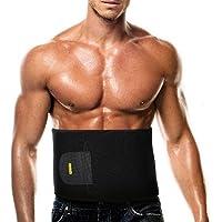 Cinturón Ajustable Fitness Faja adelgazante pérdida de peso cinturón para hombres y mujeres,fortalecer Tummy ABS,quemado calorías, prevención de lesiones y dramático alivio del dolor