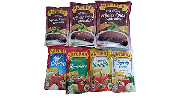 Amazon.com : Combo Naturas Frijoles Y Salsas/ Naturas Combo Sauces and Refried Beans : Grocery & Gourmet Food