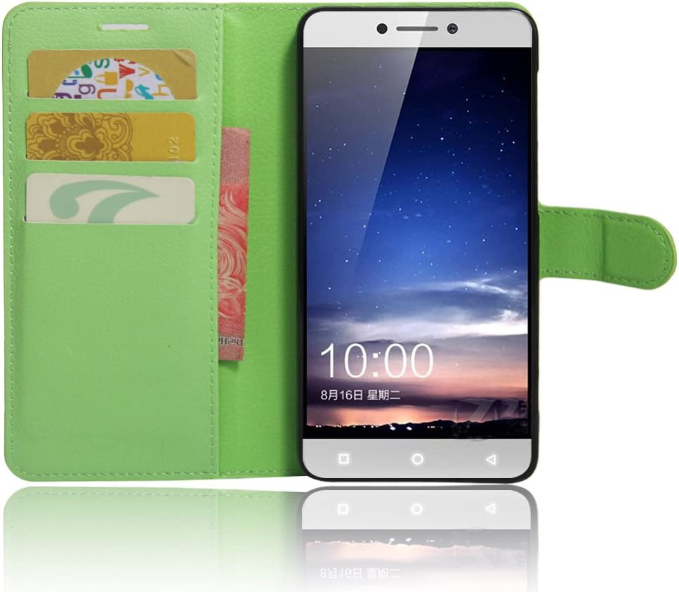 Nadakin LeEco Coolpad cool1 Funda, PU Cuero Flip Leather Wallet Case Cover Carcasa Funda con Ranura de Tarjeta Cierre Magnético y función de soporte para LeEco Coolpad cool1 (Verde): Amazon.es: Electrónica