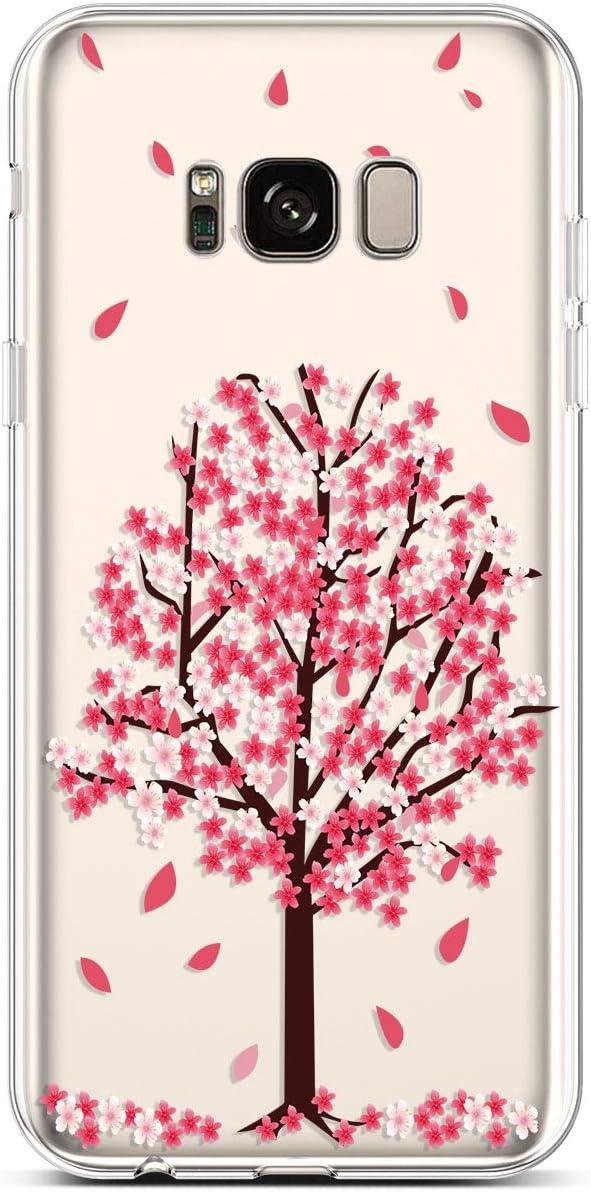 Felfy Kompatibel mit Galaxy S8 H/ülle,Kompatibel mit Galaxy S8 Handyh/ülle Transparent Silikon Schutzh/ülle Elegant Muster D/ünn Weich Klar Silikonh/ülle Sto/ßfest Schlank Cover Case Tasche H/üllen