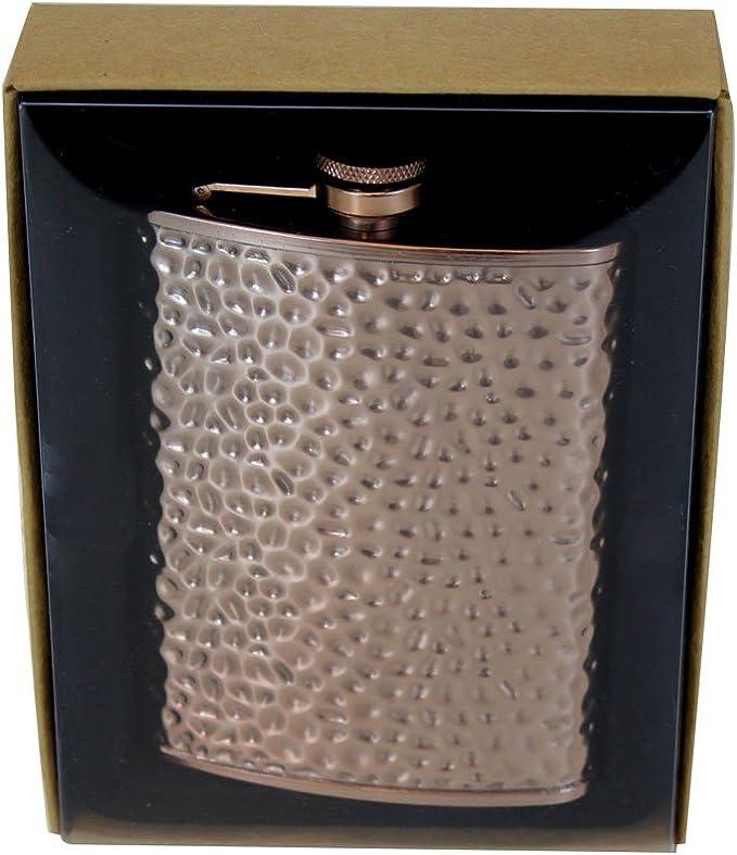 TMD Holdings FBA/_SPLT266 8 oz Copper Hammered Flask Bronze
