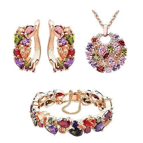 iShine collana donna Bracciali orecchini donna Come regalo Per i festival