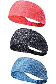 AOOPOO Sport Stirnband atmungsaktiv Schwei/ßband Kopf Elastische Haarband Kopfband zum Joggen,Radfahren,Yoga