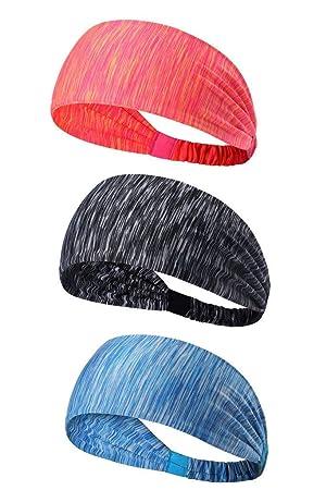 2PCS Yoga Radfahren Trainieren Qkurt Elastisches Sport-Stirnband Wandern Unisex-Schwei/ßband Yoga Fitness Sweat Stirnb/änder zum Laufen dehnbarer Feuchtigkeitstransport