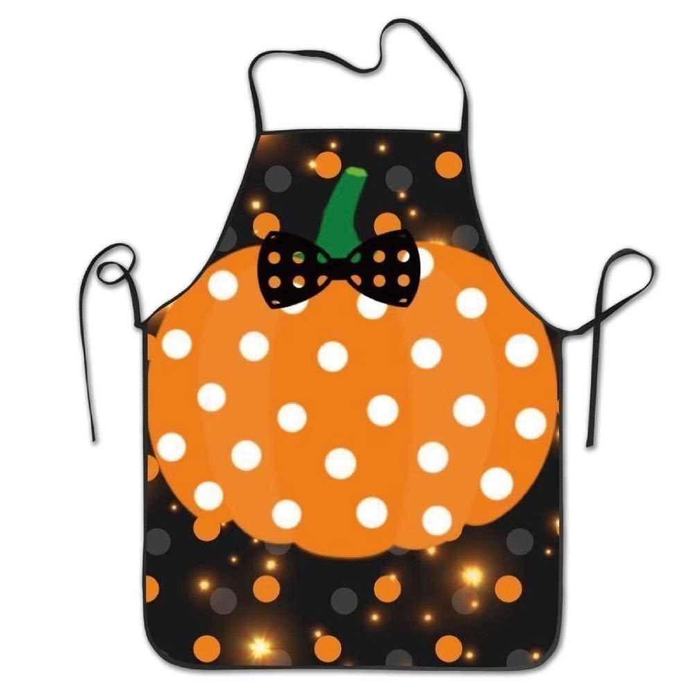 Pumpkin Galaxy Dotユニセックス大人用ティーン子供用耐久性料理Bakingキッチンレストランシェフエプロンエプロンドレスwith Neck Strap Oneサイズ   B07FMXRN89