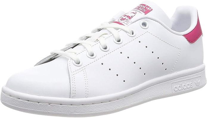 adidas Stan Smith Sneakers Jungen Mädchen Unisex Kinder weiß rosa Größe 38 bis 38 2/3