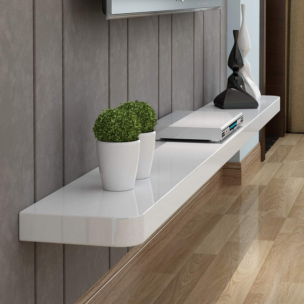 Floating Shelf Modern Wall Mounted Shelf Floating TV Shelf TV Stand TV Console Shelf Brackets Wall Media Console Hanging TV Stand for Home Office Living Room Furniture for DVD PlayerWiFi RouterTV Bo by SjYsXm-Floating shelf