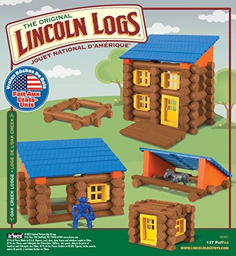 Review LINCOLN LOGS – Oak Creek Lodge – 137 Pieces – Ages 3+ Preschool Education Toy