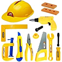Amitasha Mechanics Halmet Toolkit Toys for Kids - (Pack of 12 Tools)